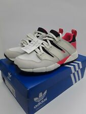 Mens Bnwt Adidas Eqt Cushion Torsion Trainers White Coral Lace Up Size 9