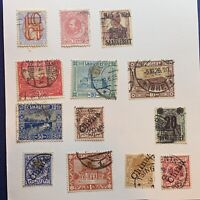 1800's to EARLY 1900's STAMP COLLECTION ON PAGE CHINA OFFICES, SAAR, NETHERLANDS