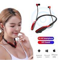 Wireless Bluetooth Handsfree Earphone Neckband Earbud Headset For Samsung iPhone