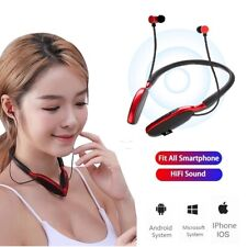Wireless Bluetooth Handsfree Earphone Neckband Earbud Headset For Samsung iPhone