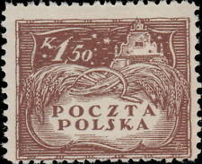 POLOGNE / POLAND - 1919 - Mi.85x p.11-1/2 1,50K Brown - Mint* (b)
