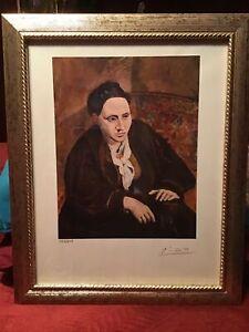 Pablo Picasso 1954 Original Print Hand Signed with COA, New Frame