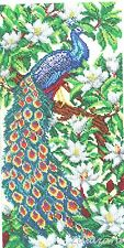Stickpackung Perlen Stickset Stickvorlage Stickbild Paradies Vogel Pfau 65