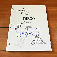 TABOO SIGNED FULL PILOT SCRIPT BY 5 CAST w/PROOF  TOM HARDY OONA CHAPLIN +MORE