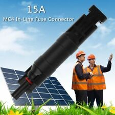 MC4 In-line Fuse Cable Connector Holder 15A For Solar Panel PV Accessories