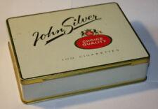 vintage tin box for cigarettes John Silver -Sweden