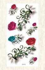 US SELLER, 3D roses temporary tattoo fake tatto