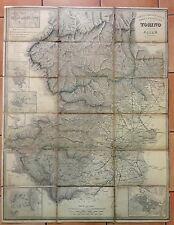 1861 PIEMONTE CARTA COROGRAFICA  DELLA PROVINCIA DI TORINO presso Editore Maggi