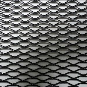 Hexagonal Mesh Grille Net Section Black Aluminum For Car Bumper Fender Body Kit
