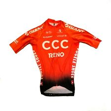 New Men's 2019 Etxeondo CCC Pro Cycling Aero SS Race Jersey, Orange, Size Large