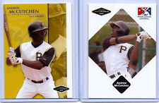 "ANDREW McCUTCHEN 2005 JUST MINORS ""2"" CARD ROOKIE CARD LOT! PIRATES! 2013 MVP!!"