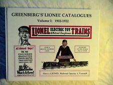 Greenberg's Lionel Catalogues: 1902-1922 Volume I 1990