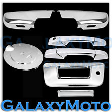 07-12 GMC Sierra Chrome Half Mirror+2 Door Handle+Tailgate w KH no CaM+GAS Cover