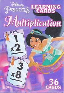 Cards Learning DISNEY PRINCESSES Multiplication Flash Game Deck