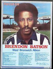 Giocatore di football FOCUS BRENDON Batson West Bromwich Albion sparare