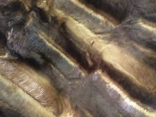 Black And Gold Faux Fur Super Soft Chinchllla Fur Fabric Sold By The Yard
