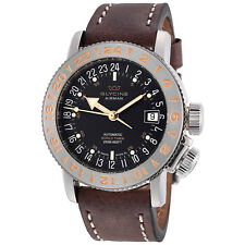Glycine 3918.196.66.LB7BF Men's Airman 18 Purist Automatic 39mm Black Dial Watch