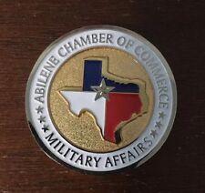 Abilene Chamber Of Commerce Challenge Coin Kay Baily Hutchinson Texas Senator