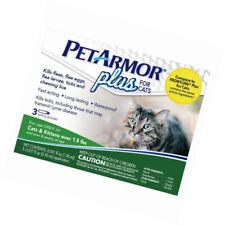 Sealed PetArmor Plus for Cats & Kittens Flea Tick Lice Treatment 3 Applications