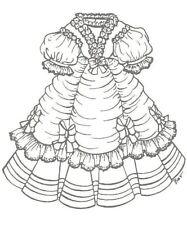 Sewing modern Bjd Artist doll dress pattern Frenc Design You Pick Size