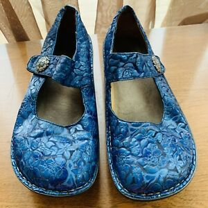 Alegria Paloma PAL-134 Blue Mary Jane Shoes Size 40 , 9.5 US