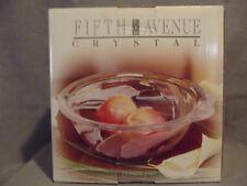 "Fifth Avenue LTD Calla Lily Frosted Crystal Fruit Bowl 11"" NIB"