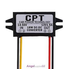 14-50V To 12V 5.5*2.5DC Male Converter CPT Power Supply Step Down Regulator Car
