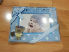 "New Stepping Stones Picture Frame Little All Star Baby Boy C.R. Gibson 6""x4"""