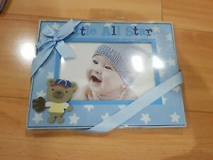 """NEW Stepping Stones Picture Frame Little All Star Baby Boy C.R. Gibson 6""""x4"""""""