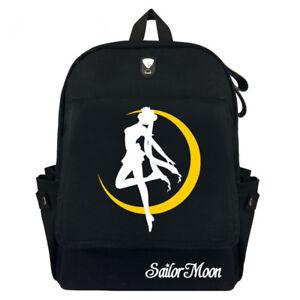 Anime Bags Sailor Moon Girls Canvas Backpack Hood pocket Rucksack Travel Bags