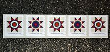 2016USA #5098-5099 25c Star Quilts Presorted First Class - Coil Strip of 5  Mint