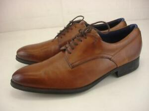 Mens 12 M Ted Baker London Vatory Brown Leather Dress Shoes Oxford Lace-Up Derby