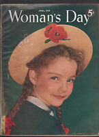 Woman's Day Magazine April 1949 Girl with Hat cover