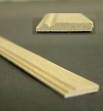 """Dolls House Builders DIY 1:12 Scale Wood Timber Skirting Board Moulding 19.5"""""""