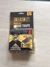 DEADFAST QUICK KILL MOUSE TRAPS X 2 One Click Setting