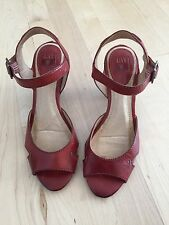 Frye 7 - 7.5 Women's Red Leather Heels