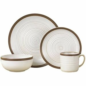 Pfaltzgraff Carmen Brown 16 Piece Stoneware Dinnerware Set 01650
