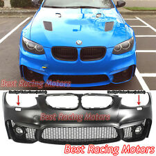 M4 (F82) Style Front Bumper + Glass Fog Fit 11-13 BMW E92 E93 LCI 3-Series 2dr
