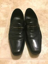 Hugo Boss Mens Carl Black Leather Loafers / Dress Shoes  Size 13