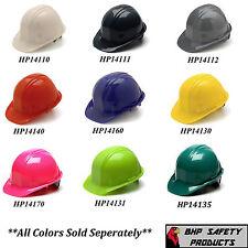 PYRAMEX CAP STYLE SAFETY HARD HAT 4-POINT RATCHET SUSPENSION CONSTRUCTION WORK