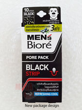 BIORE MEN NOSE DEEP CLEANSING PORE PACK REFRESHING COOL 10 STRIPS # BLACK
