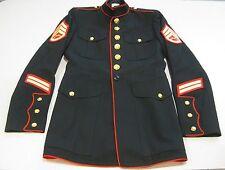 USMC US Marine Dress Blue Service Jacket Military Uniform Coat 38 L Long EUC