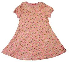 Oilily Girl's Short Sleeve Crew-neck Floral Dress, Pink, 176/ Big Girl 14-16y