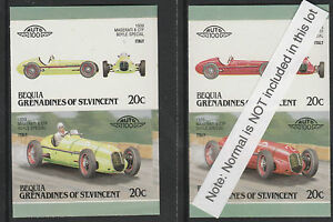 Bequia (2167) - 1987 CARS - Maserati in wrong colour (trial proof) unmounted