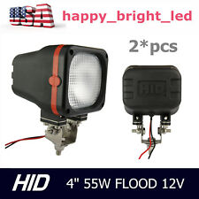 2pcs 55W 4inch Xenon HID Work Light 12V Flood Beam UTE ATV Off-road Truck Jeep