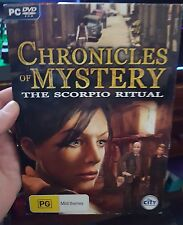 Chronicles of Mystery - The Scorpio Ritual -  PC GAME  - FREE POST *