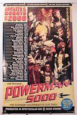 "POWERMAN 5000 - TOUR 2000 - vintage poster 22.25' X 34.50"" NOS (b185)"