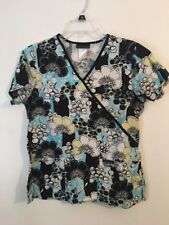 Cherokee Short Sleeve Scrub Top Women's Size Small Floral