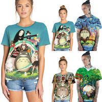 Cute Totoro Printed Men Women Short Sleeve T Shirt Summer Casual Blouse Tee Tops
