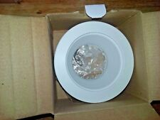 "Jesco TM201 4"" Stepped Baffle Recessed Light Trim - White on White"